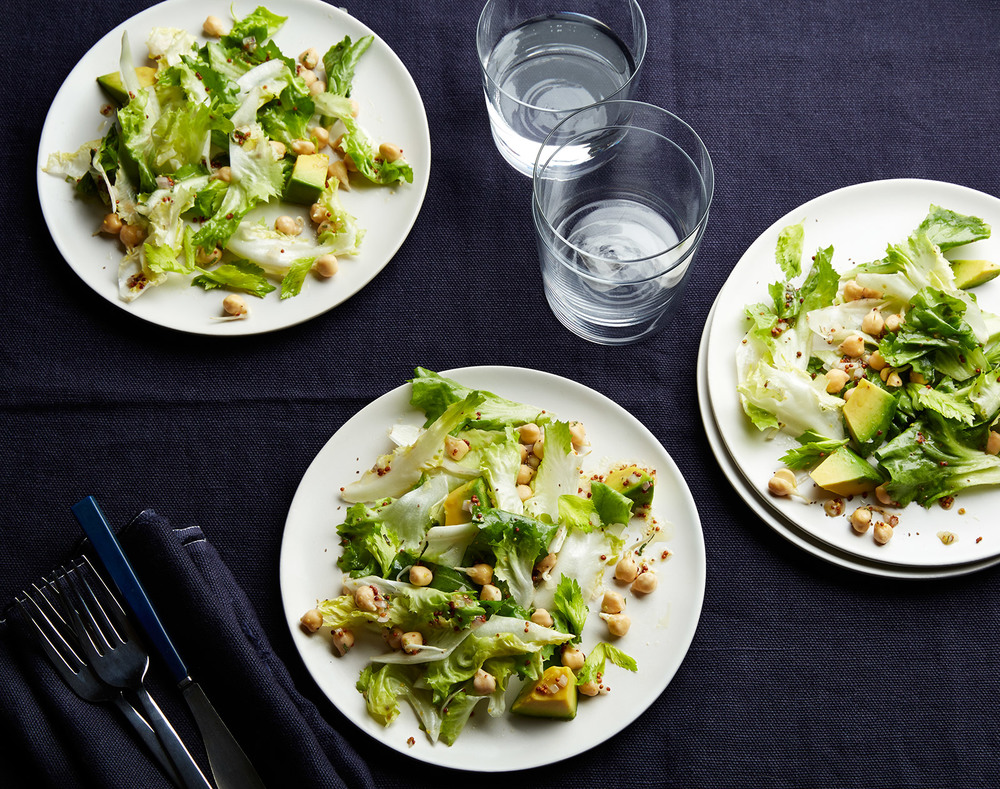 escarole and sprouted chickpeas salad dressing recipe