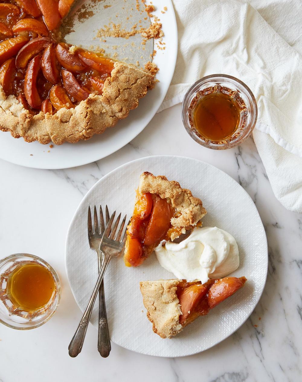 gluten free apricot amaranth galette tart and amaro