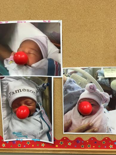 Even the newest members of FHC are proud of their red noses!
