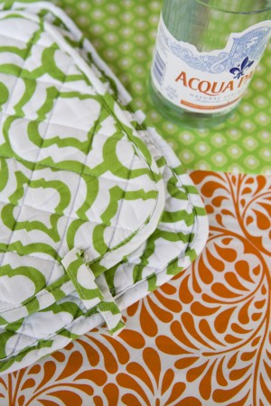 Patterned Potholders Perfectly Complement a Wedding & Shower Gift