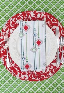 Christmas cotton dinner napkins