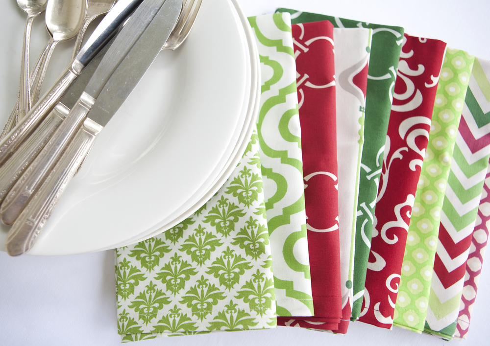 Holiday dinner napkins cotton