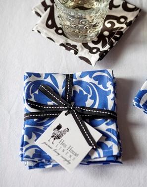 Blue Cloth Cocktail napkin