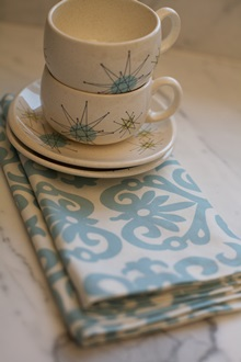 Blue cotton cloth napkins
