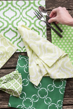 Green Dinner napkins cotton cloth