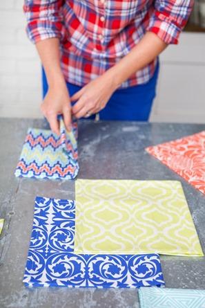 colorful cotton napkins