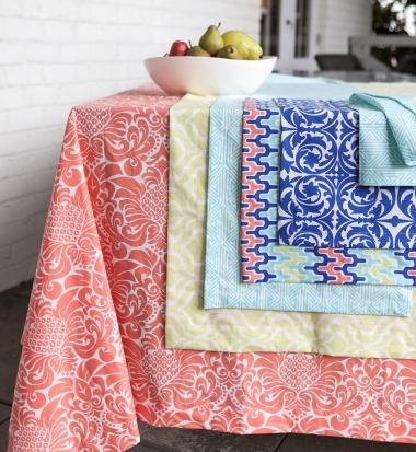 colorful cotton tablecloths hen house linens