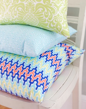 colorful spring pillows