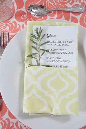 cotton yellow green casual dinner napkin