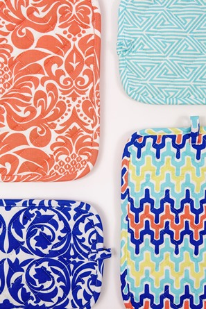 pretty printed potholders