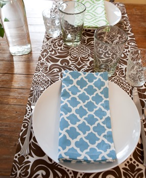 blue dinner napkins cotton