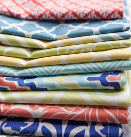 colorful cotton dinner napkins
