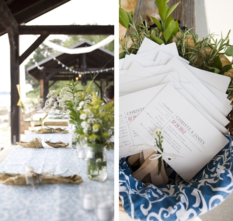 cotton casual table linens for wedding