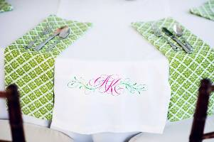 green cotton dinner napkins for wedding lily