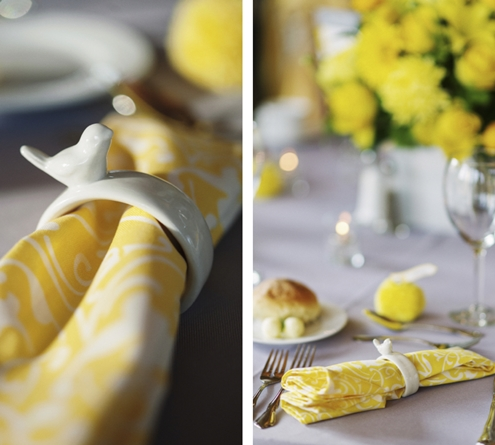 yellow cotton table linens for a wedding colorful