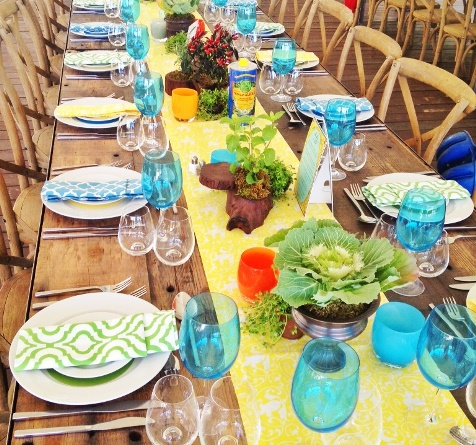 yellow table linens cotton for weddings