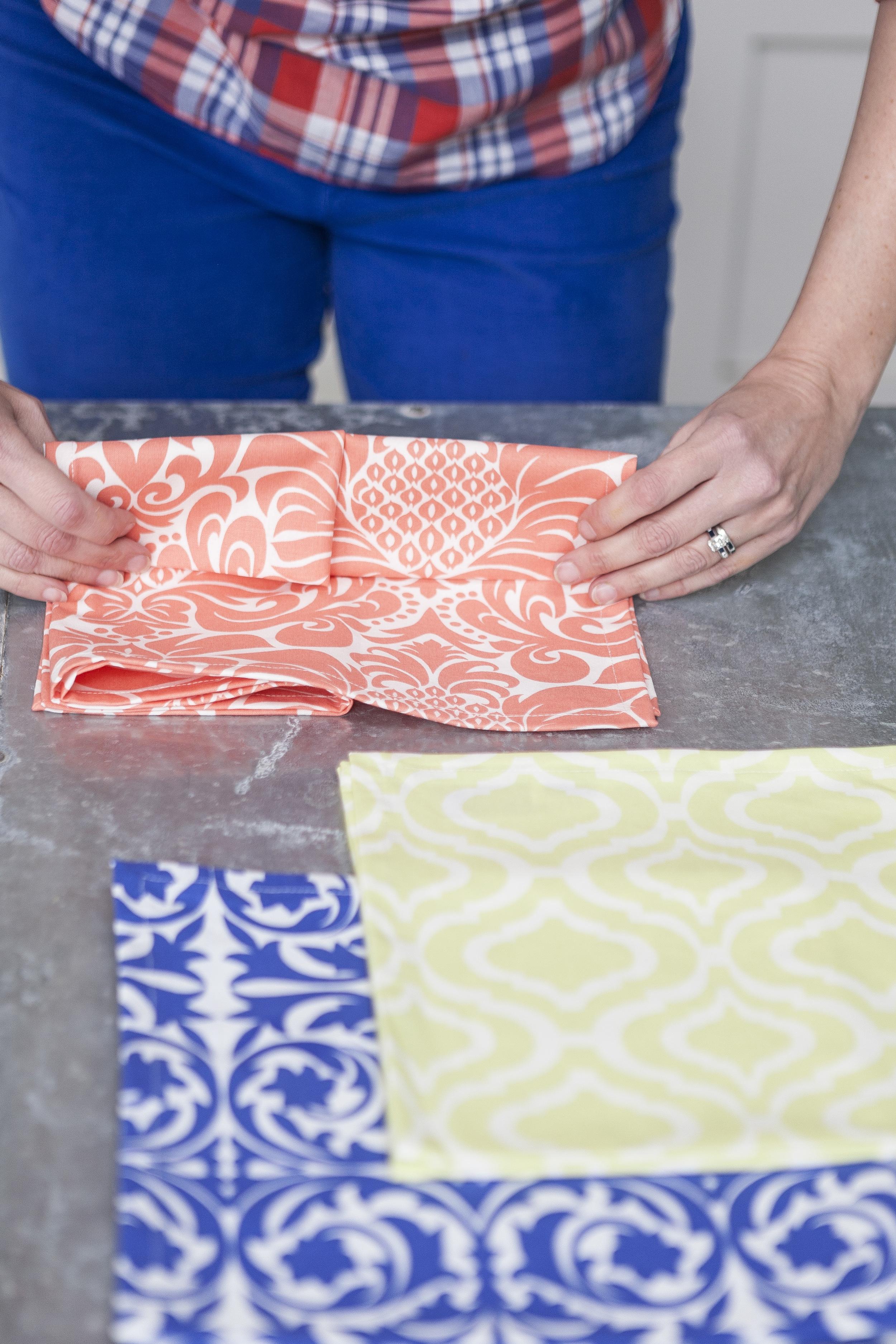colorful cloth napkins