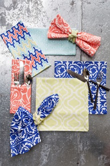 colorful dinner napkins entertaining