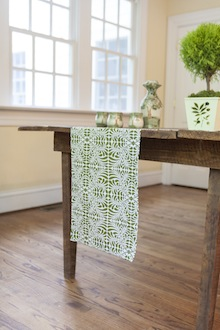 double green and white runner