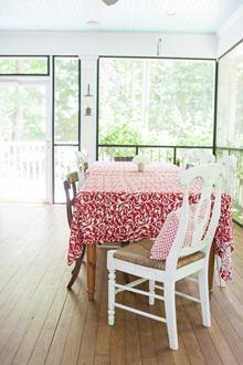 cotton cloth porch