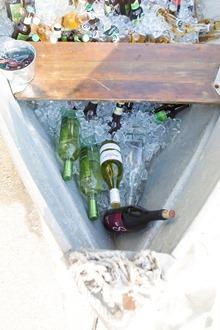 drinks in boat
