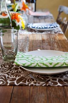 fresh table setting