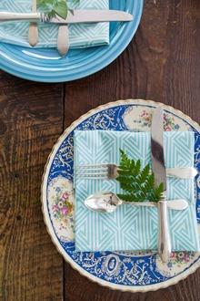herbs on cloth napkin
