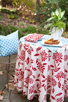 outside dining cotton cloth