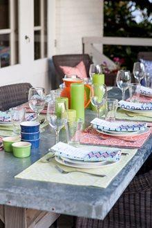 summer porch supper
