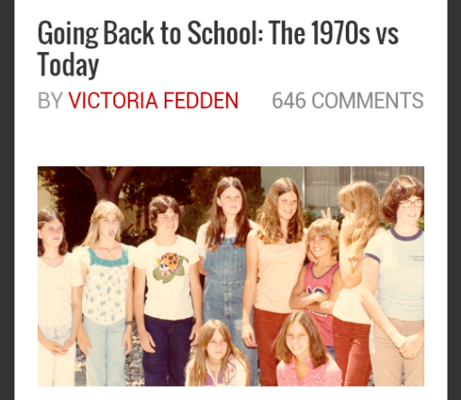 Back to School in 70s