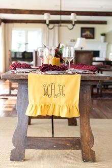 gold solid cotton table runner