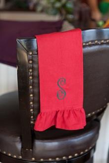 monogram ruffle guest towel