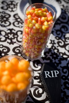 candy corn halloween tablecloth