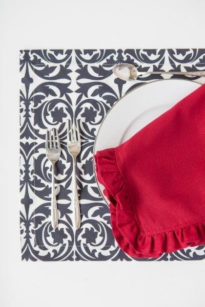 red solid cotton dinner napkin