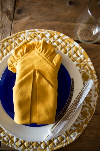 cotton napkin folds