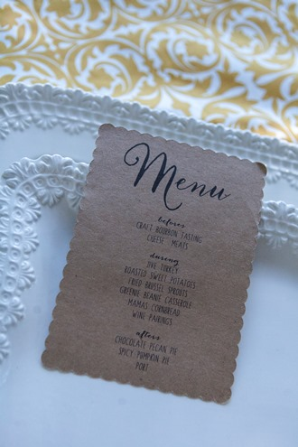 printable menus for Thanksgiving