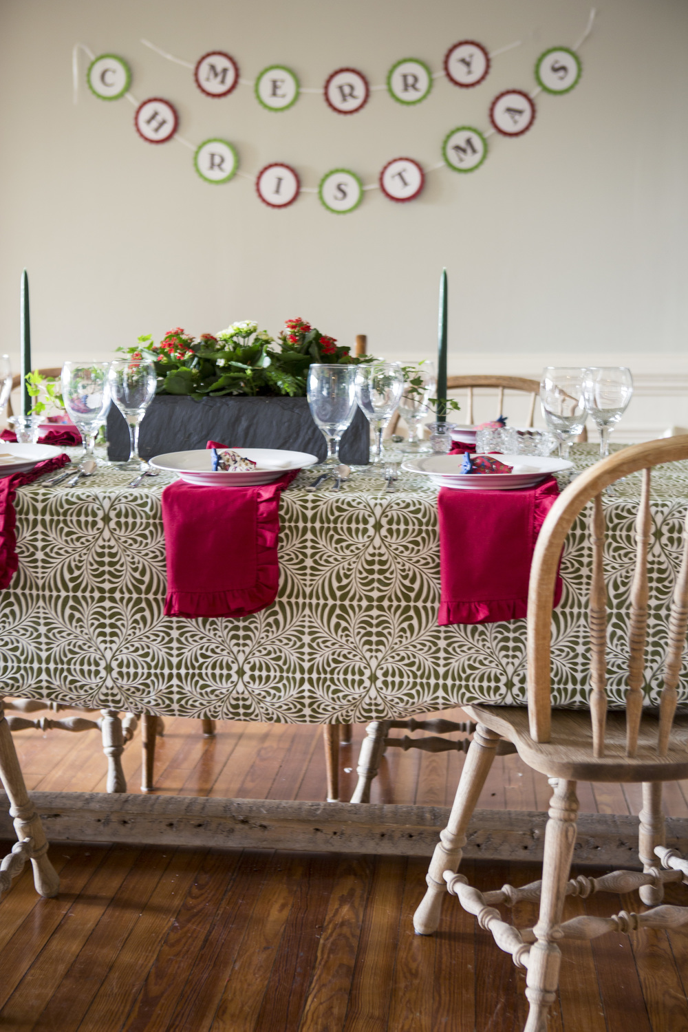 cotton holiday table linens
