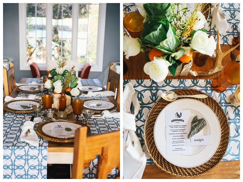 Here, two are used to add color but still expose the rustic table.