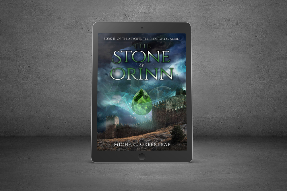 3-D Ereader for Michael Greenleaf's The Stone of Orinn || Designed by TheThatchery.com