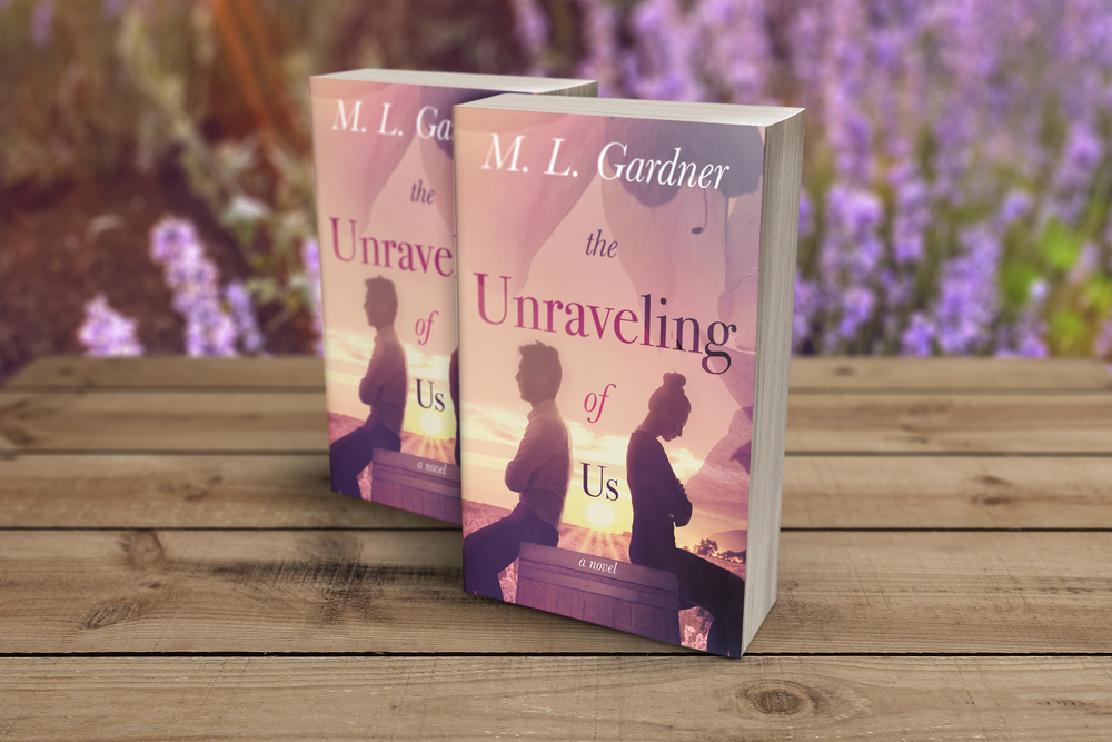 Designed by TheThatchery.com. 3-D book cover for M. L. Gardner's The Unraveling of Us