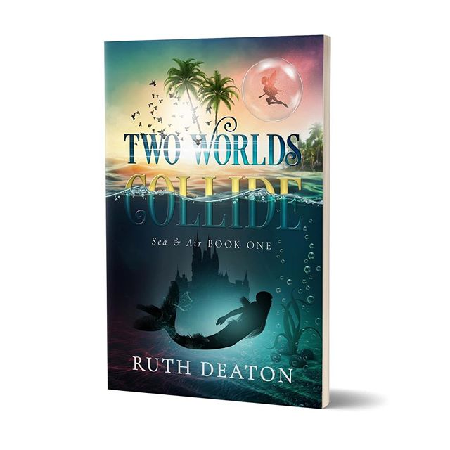 **Cover Reveal** A mermaid. A fairy. A past they cannot escape.  @ruthd_south_of_the_equator Ruth Deaton's Two World's Collide was a joy to design AND read. Coming soon in paperback and ebook! -Covered designed by @thethatchery . . . #thethatchery #coverreveal #bookcover #bookcoverdesign #shelfie #bookstagram #writersofinstagram #authorsofinstagram #bookish