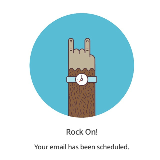 My email has been scheduled.