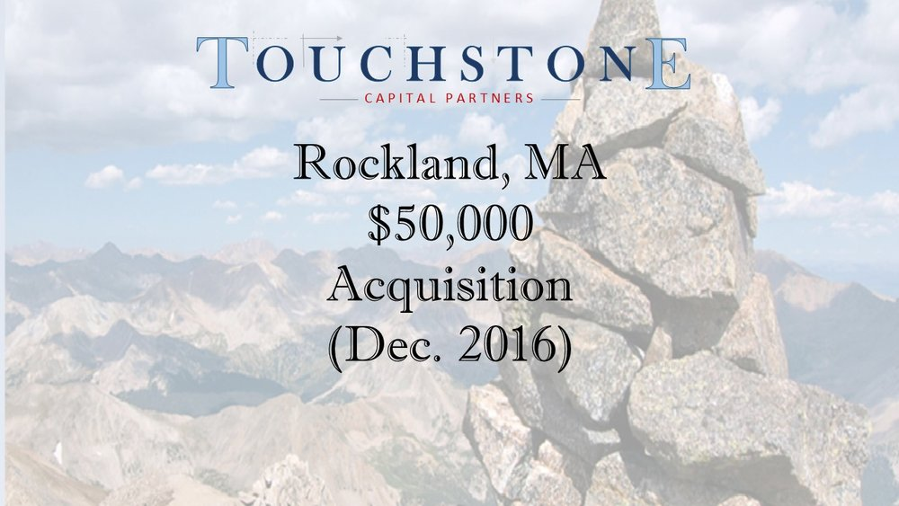 $50,000 Acquisition Loan - Rockland, MA - Fund II