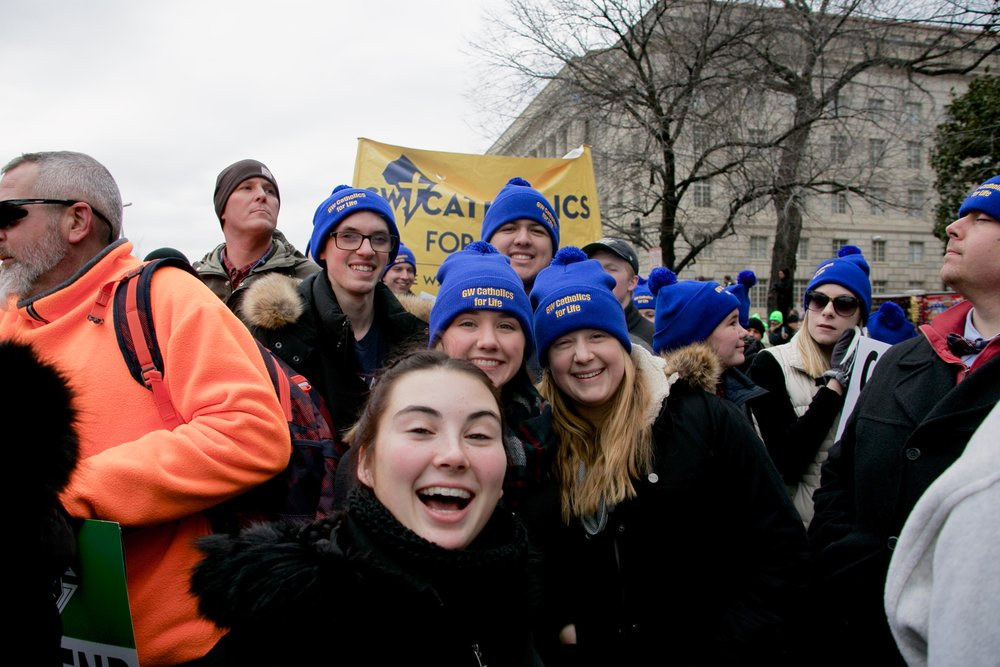 Students at March for Life 2017