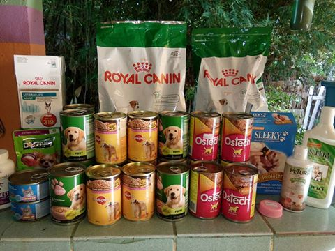 One week of food for puppies alone!