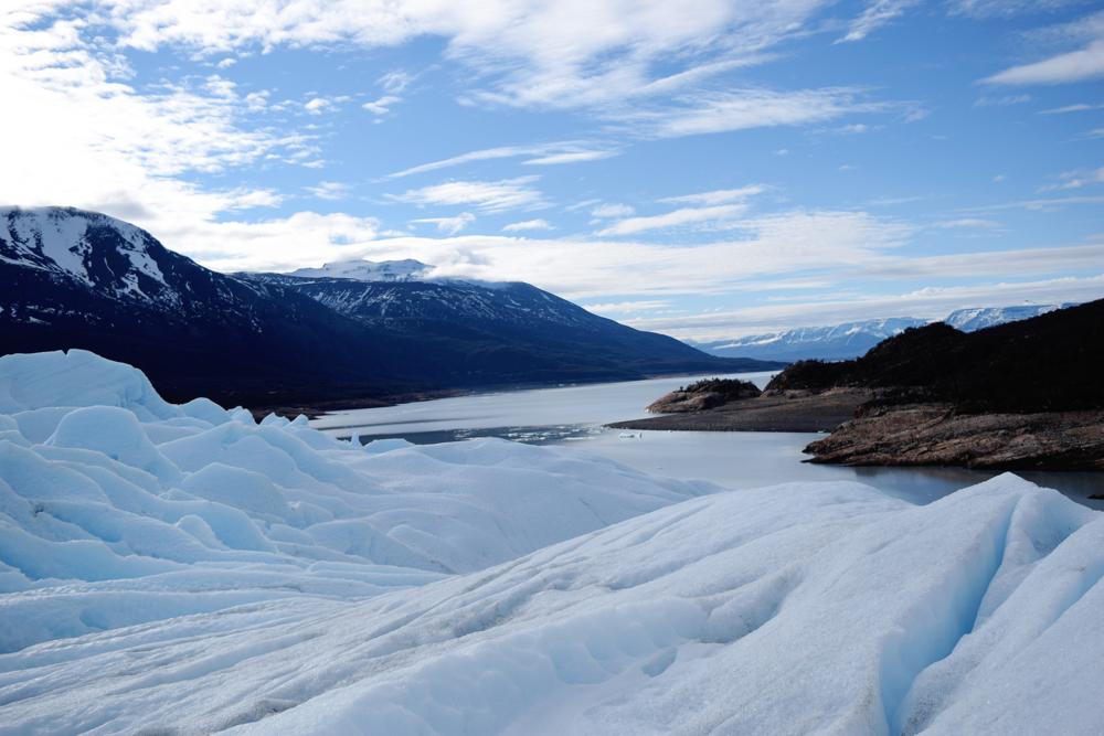 Vistas sobre el Glaciar Perito Moreno.