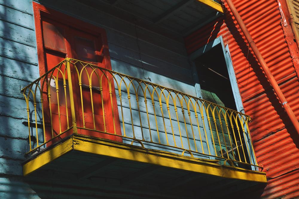 Balcones en El Caminito.