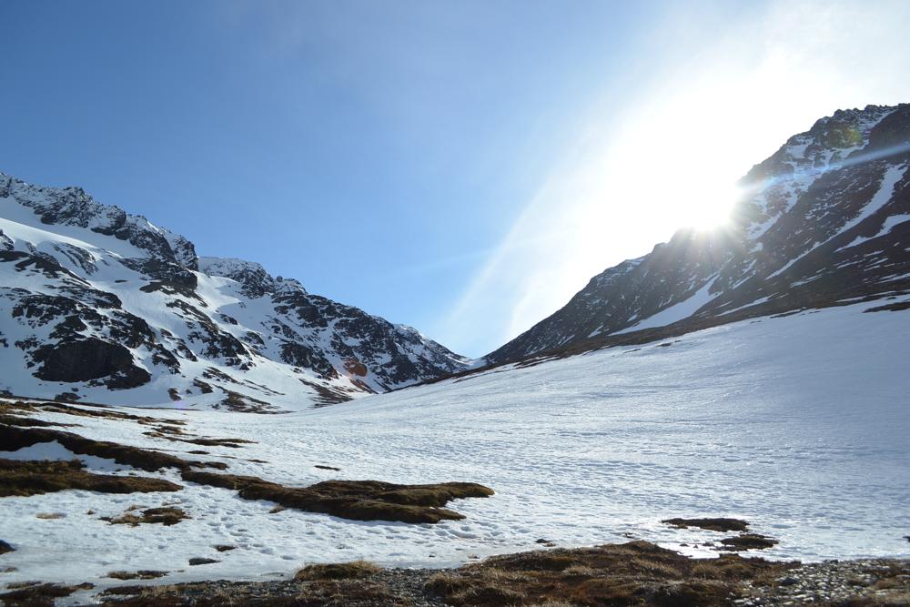 En el medio del Cerro Martial.