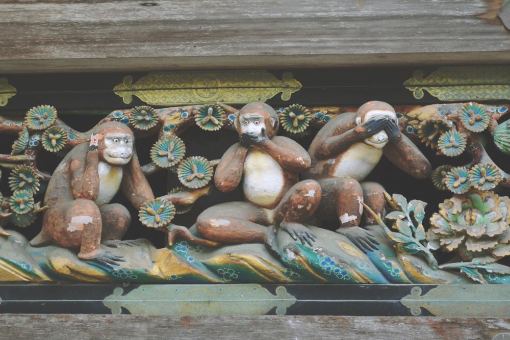 Los tres monos sabios.