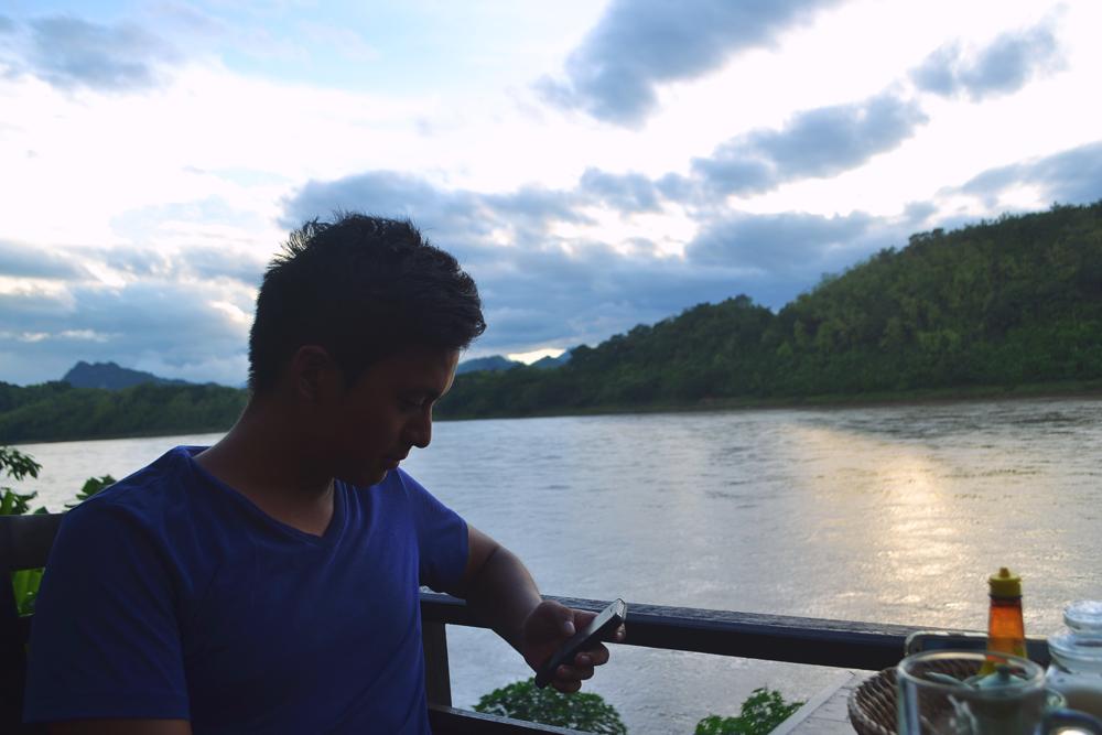 """""""Sokmexay"""", con vistas al Mekong."""